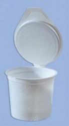 40 crachoirs en plastique avec couvercle attaché