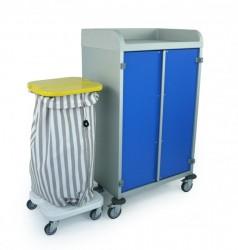 Kit d'accroche pour support sac poubelle/linge