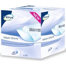 50 gants Tena Wash Glove Soft