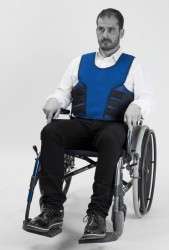 Veste de maintien Salvaclip Comfort pour fauteuil roulant