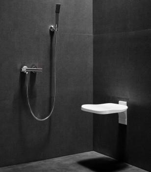 Siège de douche fixe