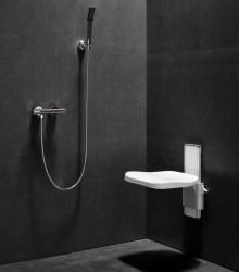 Siège de douche réglable en hauteur