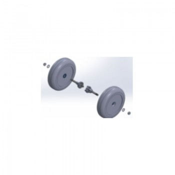 Set de roues arrières pour fauteuil électrique ZINGER| SenUp.com