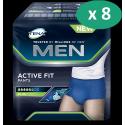 Tena Men Active Fit Pants Plus Large - 8 paquets de 10 protections