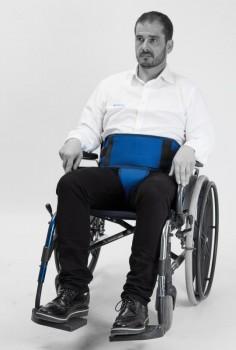 Ceinture abdominale périnéale pour fauteuil roulant