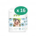 Nateen Baby Diapers Medium - 16 paquets de 18 protections