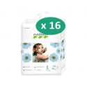 Nateen Baby Diapers Large - 16 paquets de 16 protections