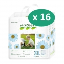 Nateen Baby Diapers XL - 16 paquets de 14 protections