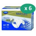 Molicare Premium Slip Elastic Medium 9 gouttes - 6 paquets de 26 protections