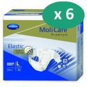 Molicare Premium Slip Elastic Large 9 gouttes - 6 paquets de 24 protections