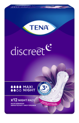 Tena Discreet Maxi Night - 12 protections