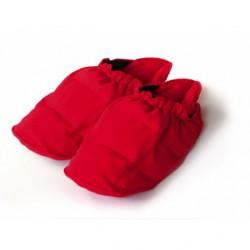 SISSEL® Linum Relax - Chaussons confort en graines de lin - bleu / rouge