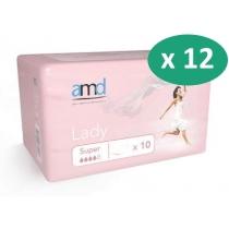 AMD Lady Super - 12 paquets de 10 protections