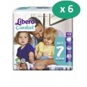 Libero Comfort 7 - 6 paquets de 40 langes