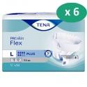 Tena Flex Plus Large - 6 paquets de 30 protections
