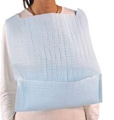 Bavoirs jetables pour adultes avec poche (bleu) - 100 unités