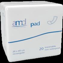 Amd Pad Rectangular - couche rectangulaire traversable 20 x 60 cm