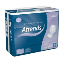 ATTENDS® Contours Regular 6 - Box of 140 incontinence pads