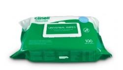 100 lingettes nettoyantes et désinfectantes