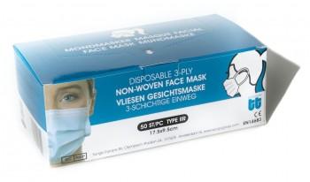Boite de 50 masques chirurgicaux Type IIR/3P