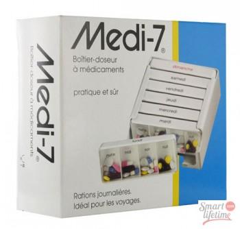 Pilulier semainier MEDI-7 Blanc| SenUp.com