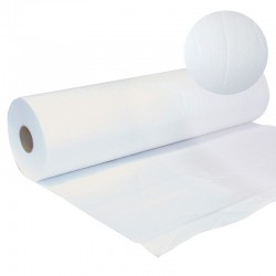Draps d'examen en papier gaufré - 2 Plis - 50 cm x 50 m - Prédécoupé 38 cm