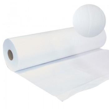 Drap d'examen blanc en papier gaufré - 2 Plis  | Sen'Up