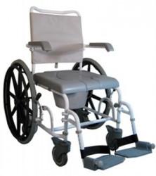 Chaise roulante de douche percée en époxy blanc