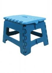 Marchepied pliable en plastique bleu