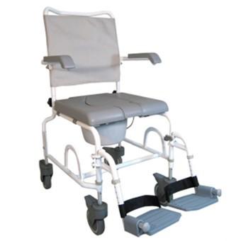 Chaise roulante de douche percée en époxy blanc (petites roues)| SenUp.com