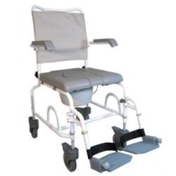Chaise roulante de douche percée A