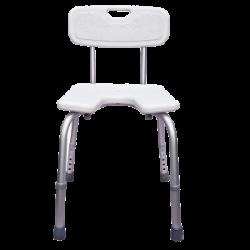 Chaise de douche sans accoudoirs - réglable en hauteur