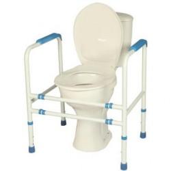 Cadre de toilette réglable en époxy blanc