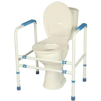 Cadre de toilette réglable en époxy blanc| SenUp.com