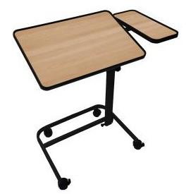 table de lit avec tablette lat rale fixe h tre disponible sur. Black Bedroom Furniture Sets. Home Design Ideas