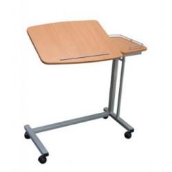 Table de lit réglable et inclinable avec tablette latérale fixe - Hêtre