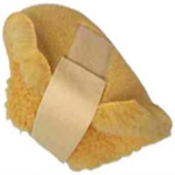 Protège-talon en fourrure synthétique avec bande velcro de maintien