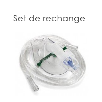 Set de rechange pour aérosols - Masques adultes et enfant, nébuliseur, embout, tube et filtre| SenUp.com