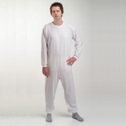Pyjama blanc en une partie - taille medium ou large
