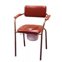 Chaise hygiénique fixe en vinyl bordeaux