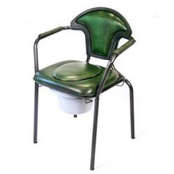 Chaise hygiénique fixe avec tampon - vinyl vert
