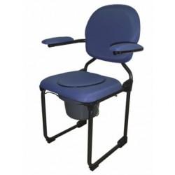 Chaise hygiénique pliante bleue