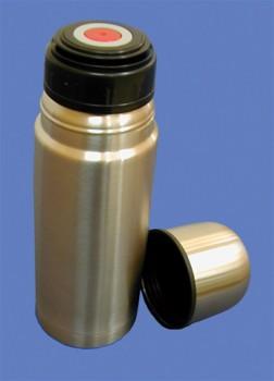 Bouteille isotherme en inox incassable avec bouchon à cliquet - 0.3 L