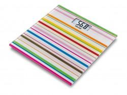 Pèse-personne en verre Happy Stripes - Beurer GS 27