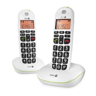 Doro PhoneEasy® 100w Duo - Téléphones sans fil grandes touches - Blanc ou noir| SenUp.com