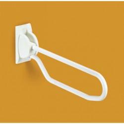 Appui rabattable pour toilette - Blanc