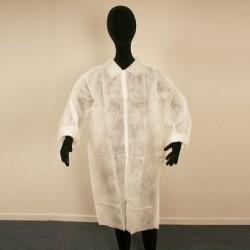 "25 blouses jetables ""visiteurs"" taille large"