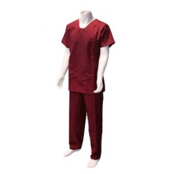 Pantalon d'infirmier mixte - Bordeaux