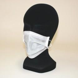 60 masques jetables en non-tissé 2 plis
