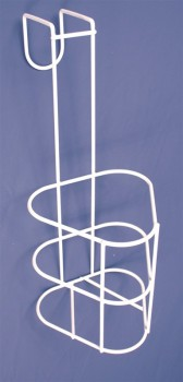 Porte-urinal blanc en métal